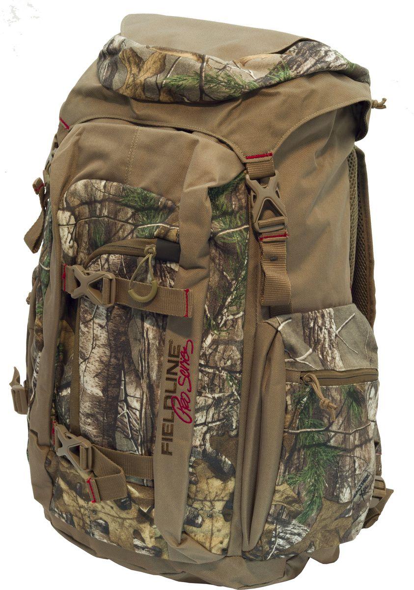 Рюкзак для охоты Fieldline Gleenwood Canyon Frame Pack, цвет: камуфляж, светло-коричневый020968589522Высокотехнологичный рюкзак для охоты Gleenwood Canyon Frame Packвыполнен из прочной, малошуршащей ткани. Для облегчения доступа к снаряжению (например, охотник стоит по пояс в воде на утиной охоте) основной грузовой отсек имеет два входа - стандартный верхний с клапанами идополнительный боковой вертикальный вход на молнии. Верхний клапан имеет карман на молнии. Для облегчения переноски оружия, рюкзак имеет интегрированную систему крепления оружия к рюкзаку с возможностью ее складывания в специальный отсек. Фронтальный большой отсек-карман для снаряжения (оптического прицела или подзорный трубы и т.д.). Специальный отсек - карман для стандартной 2-х литровой питьевой системы (питьевая система продается отдельно). 2 больших боковых кармана на молнии. Спина подвесной системы и внутренняя сторона плечевых ремней выполнены из специальной сетки для обеспечения максимальной циркуляцию воздуха. 2 компрессионные стропы для распределения нагрузки и крепления дополнительного груза. Бесшумные пулеры на молниях. Специальные точки крепления дополнительного снаряжения на поясном ремне. Y образные плечевые ремни с центральной регулировочной поперечной утяжкой.