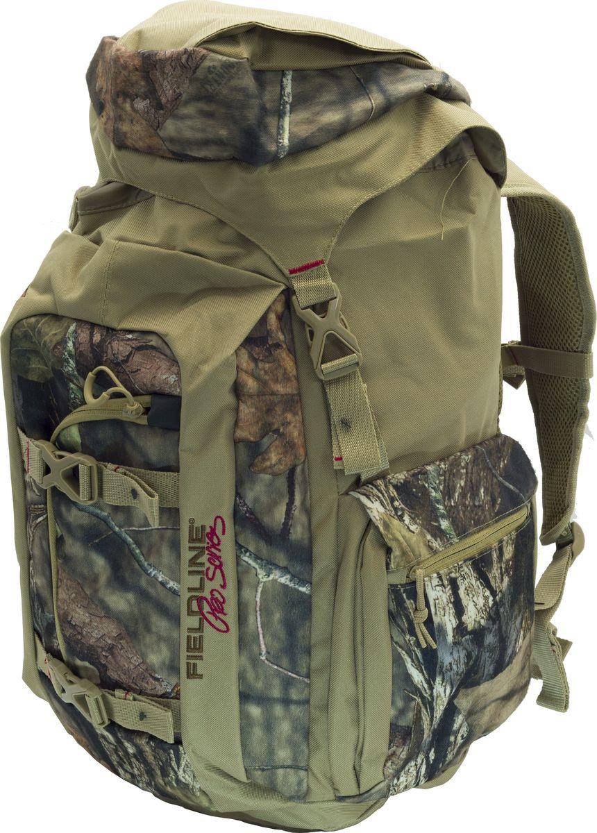 Рюкзак для охоты Fieldline Gleenwood Canyon Frame Pack, цвет: камуфляж, хаки020968612237Высокотехнологичный рюкзак для охоты Gleenwood Canyon Frame Packвыполнен из прочной, малошуршащей ткани. Для облегчения доступа к снаряжению (например, охотник стоит по пояс в воде на утиной охоте) основной грузовой отсек имеет два входа - стандартный верхний с клапанами идополнительный боковой вертикальный вход на молнии. Верхний клапан имеет карман на молнии. Для облегчения переноски оружия, рюкзак имеет интегрированную систему крепления оружия к рюкзаку с возможностью ее складывания в специальный отсек. Фронтальный большой отсек-карман для снаряжения (оптического прицела или подзорный трубы и т.д.). Специальный отсек - карман для стандартной 2-х литровой питьевой системы (питьевая система продается отдельно). 2 больших боковых кармана на молнии. Спина подвесной системы и внутренняя сторона плечевых ремней выполнены из специальной сетки для обеспечения максимальной циркуляцию воздуха. 2 компрессионные стропы для распределения нагрузки и крепления дополнительного груза. Бесшумные пулеры на молниях. Специальные точки крепления дополнительного снаряжения на поясном ремне. Y образные плечевые ремни с центральной регулировочной поперечной утяжкой.