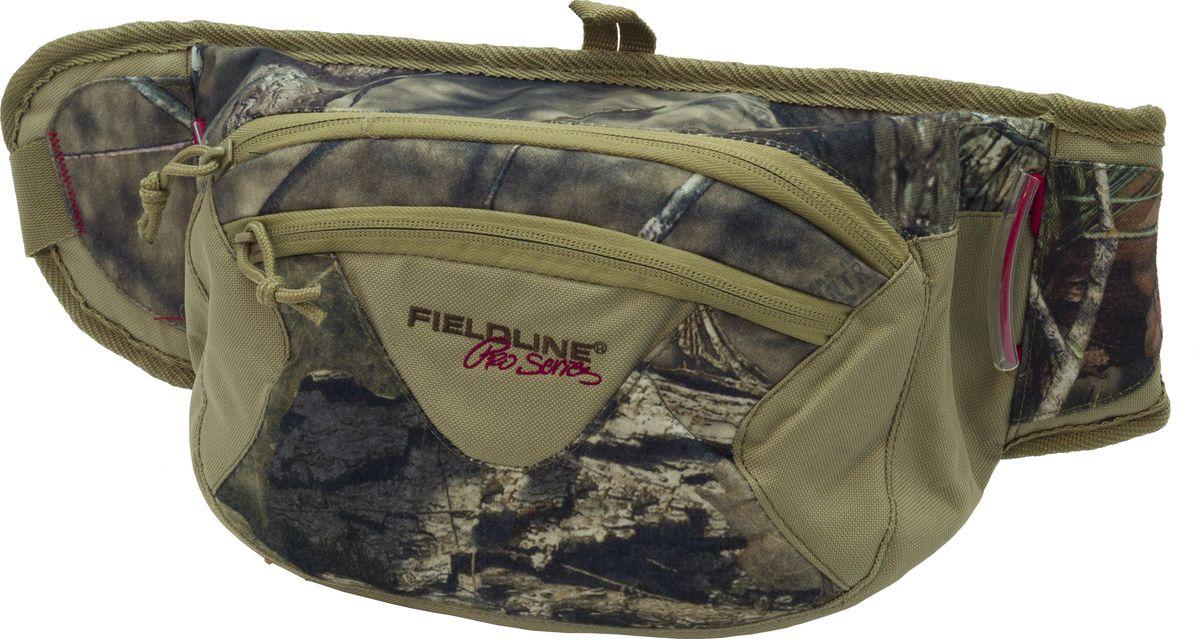 Сумка для охоты Fieldline Montana Waist Pack, поясная, цвет: камуфляж, хаки020968612251Поясная сумка Montana Waist Pack выполненная из камуфлированной, малошуршащей ткани. Имеется большой основной отсек, поясной ремень с возможностью регулировки, дополнительный центральный карман на молнии. Сумка снабжена системой Gear-Lock для крепления дополнительного снаряжения.