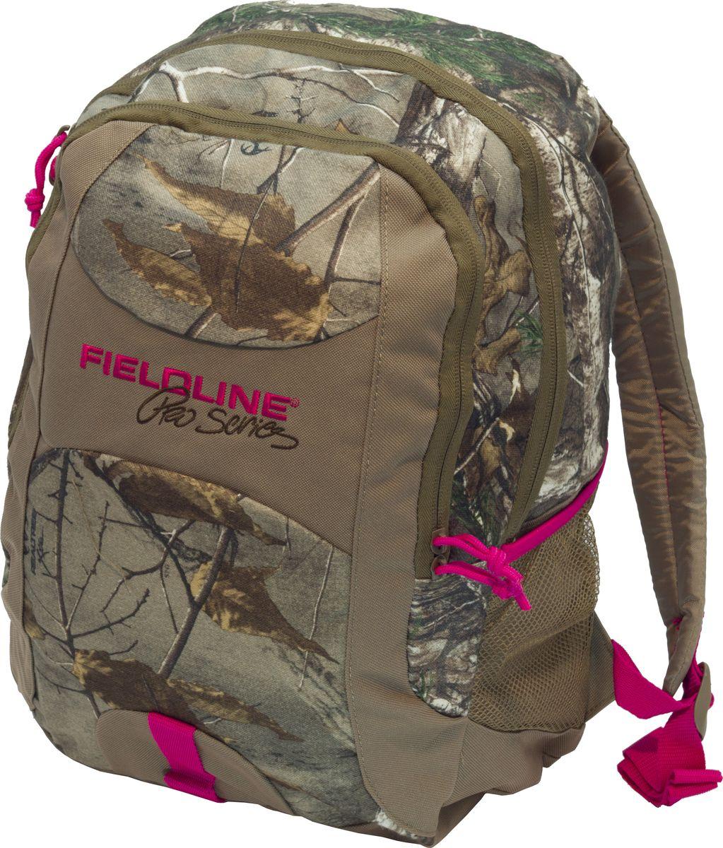 Рюкзак для охоты Fieldline Womens Matador Back Pack, цвет: камуфляж, светло-коричневый20968609237Женский рюкзак, для охоты, туризма, путешествий. Снабжен фронтальным карманом с органайзером, боковым карманом для питьевой бутылки. Мягкая спина иY образные плечевые ремни.