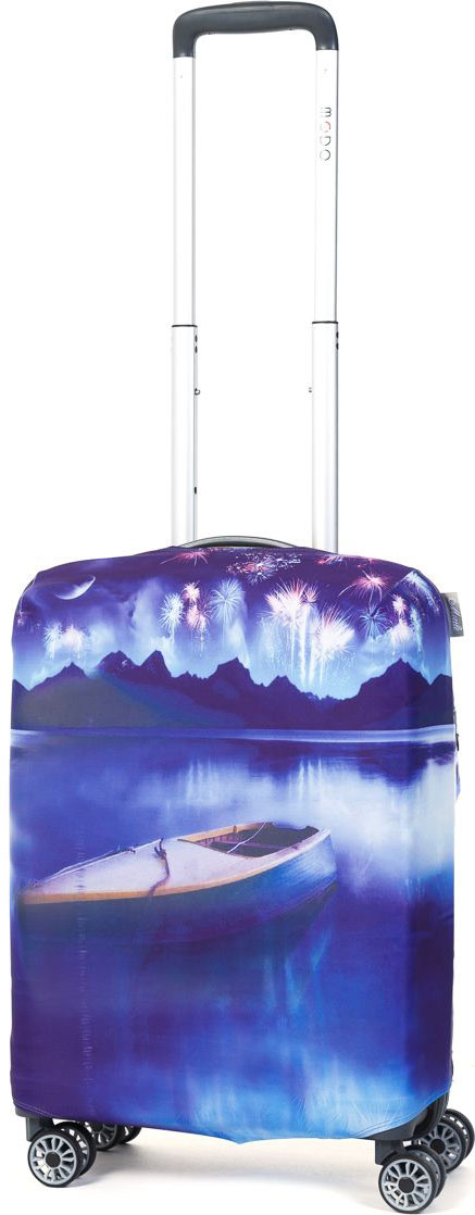 Чехол для чемодана Mettle Night Lake, размер S (высота чемодана: 50-55 см)LK-21000029Модный универсальный чехол METTLE подходит для чемоданов ручной клади размера S (высота: 50-55 см, ширина: 35-40 см,глубина: 20-25 см). Он выполнен из спандекса. Эластичная ткань со специальной UF-водоотталкивающей пропиткой лучше защитит ваш чемоданот грязи и солнечных лучей.Картинка чехла надолго останется яркой и красочной. Две боковые потайные молнии, усиленные дополнительными швами, предохраняютбоковые стороны и ручки чемодана от царапин и легких повреждений. Резинка с удобной соединяющей застёжкой надёжно фиксирует чехол начемодане. Нижняя молния имеет автоматический замок бегунка. В швы багажного чехла дополнительно вшит эластичный жгут для лучшей усадкии фиксации на чемодан. Вся фурнитура изготовлена в фирменном дизайне METTLE. Чехол упакован в функциональный мешочек из аналогичной ткани, который вы сможете использовать для хранения и переноски предметовнебольшого размера.