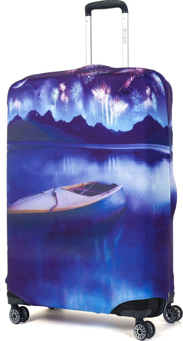 Чехол для чемодана Mettle Night Lake, размер L (высота чемодана: 75-82 см)LK-21000031Модный универсальный чехол для чемодана METTLE, подходит для больших чемоданов размера L и даже XL (высота: 75-82 см, ширина: 46-54 см, глубина: 29-36 см). Он выполнен из спандекса. Эластичная ткань со специальной UF-водоотталкивающей пропиткой лучше защитит ваш чемодан от грязи и солнечных лучей. Картинка чехла надолго останется яркой и красочной. Две боковые потайные молнии, усиленные дополнительными швами, предохраняют боковые стороны и ручки чемодана от царапин и легких повреждений. Резинка с удобной соединяющей застёжкой надёжно фиксирует чехол на чемодане. Нижняя молния имеет автоматический замок бегунка. В швы багажного чехла дополнительно вшит эластичный жгут для лучшей усадки и фиксации на чемодан. Вся фурнитура изготовлена в фирменном дизайне METTLE.Чехол упакован в функциональный мешочек из аналогичной ткани, который вы сможете использовать для хранения и переноски предметов небольшого размера.