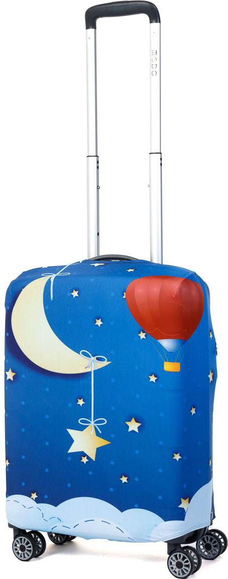 Чехол для чемодана Mettle Good Night, размер S (высота чемодана: 50-55 см)LK-21000035Модный универсальный чехол METTLE подходит для чемоданов ручной клади размера S (высота: 50-55 см, ширина: 35-40 см,глубина: 20-25 см). Он выполнен из спандекса. Эластичная ткань со специальной UF-водоотталкивающей пропиткой лучше защитит ваш чемоданот грязи и солнечных лучей.Картинка чехла надолго останется яркой и красочной. Две боковые потайные молнии, усиленные дополнительными швами, предохраняютбоковые стороны и ручки чемодана от царапин и легких повреждений. Резинка с удобной соединяющей застёжкой надёжно фиксирует чехол начемодане. Нижняя молния имеет автоматический замок бегунка. В швы багажного чехла дополнительно вшит эластичный жгут для лучшей усадкии фиксации на чемодан. Вся фурнитура изготовлена в фирменном дизайне METTLE. Чехол упакован в функциональный мешочек из аналогичной ткани, который вы сможете использовать для хранения и переноски предметовнебольшого размера.