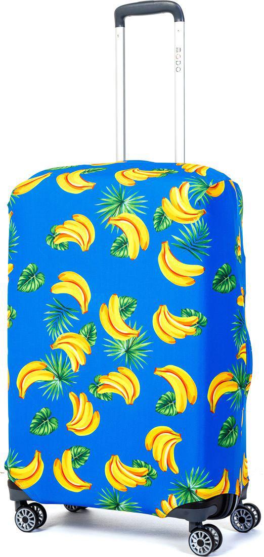 Чехол для чемодана Mettle Banana, размер M (высота чемодана: 65-75 см)LK-21000039Модный универсальный чехол для чемодана METTLE, подходит для средних чемоданов размера М (высота: 65-75 см, ширина: 40-46 см, глубина: 25-32 см). Он выполнен из спандекса. Эластичная ткань со специальной UF-водоотталкивающей пропиткой лучше защитит ваш чемодан от грязи и солнечных лучей. Картинка чехла надолго останется яркой и красочной. Две боковые потайные молнии, усиленные дополнительными швами, предохраняют боковые стороны и ручки чемодана от царапин и легких повреждений. Резинка с удобной соединяющей застёжкой надёжно фиксирует чехол на чемодане. Нижняя молния имеет автоматический замок бегунка. В швы багажного чехла дополнительно вшит эластичный жгут для лучшей усадки и фиксации на чемодан. Вся фурнитура изготовлена в фирменном дизайне METTLE.Чехол упакован в функциональный мешочек из аналогичной ткани, который вы сможете использовать для хранения и переноски предметов небольшого размера.