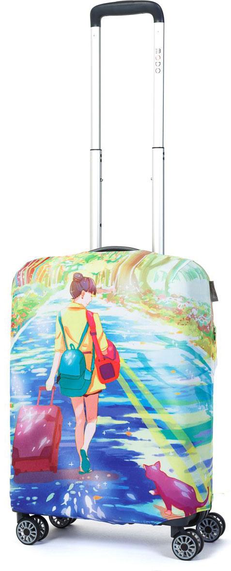 Чехол для чемодана Mettle Dream Of Road, размер S (высота чемодана: 50-55 см)LK-21000056Модный универсальный чехол METTLE подходит для чемоданов ручной клади размера S (высота: 50-55 см, ширина: 35-40 см,глубина: 20-25 см). Он выполнен из спандекса. Эластичная ткань со специальной UF-водоотталкивающей пропиткой лучше защитит ваш чемоданот грязи и солнечных лучей.Картинка чехла надолго останется яркой и красочной. Две боковые потайные молнии, усиленные дополнительными швами, предохраняютбоковые стороны и ручки чемодана от царапин и легких повреждений. Резинка с удобной соединяющей застёжкой надёжно фиксирует чехол начемодане. Нижняя молния имеет автоматический замок бегунка. В швы багажного чехла дополнительно вшит эластичный жгут для лучшей усадкии фиксации на чемодан. Вся фурнитура изготовлена в фирменном дизайне METTLE. Чехол упакован в функциональный мешочек из аналогичной ткани, который вы сможете использовать для хранения и переноски предметовнебольшого размера.
