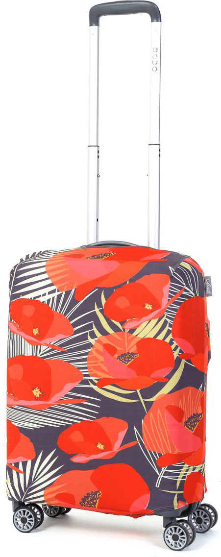 Чехол для чемодана Mettle Flowers, размер S (высота чемодана: 50-55 см)LK-21000059Модный универсальный чехол METTLE подходит для чемоданов ручной клади размера S (высота: 50-55 см, ширина: 35-40 см, глубина: 20-25 см). Он выполнен из спандекса. Эластичная ткань со специальной UF-водоотталкивающей пропиткой лучше защитит ваш чемодан от грязи и солнечных лучей. Картинка чехла надолго останется яркой и красочной. Две боковые потайные молнии, усиленные дополнительными швами, предохраняют боковые стороны и ручки чемодана от царапин и легких повреждений. Резинка с удобной соединяющей застёжкой надёжно фиксирует чехол на чемодане. Нижняя молния имеет автоматический замок бегунка. В швы багажного чехла дополнительно вшит эластичный жгут для лучшей усадки и фиксации на чемодан. Вся фурнитура изготовлена в фирменном дизайне METTLE.Чехол упакован в функциональный мешочек из аналогичной ткани, который вы сможете использовать для хранения и переноски предметов небольшого размера.