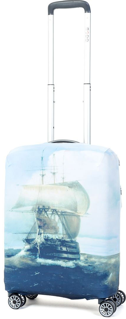 Чехол для чемодана Mettle Harbour, размер S (высота чемодана: 50-55 см)LK-21000062Модный универсальный чехол METTLE подходит для чемоданов ручной клади размера S (высота: 50-55 см, ширина: 35-40 см,глубина: 20-25 см). Он выполнен из спандекса. Эластичная ткань со специальной UF-водоотталкивающей пропиткой лучше защитит ваш чемоданот грязи и солнечных лучей.Картинка чехла надолго останется яркой и красочной. Две боковые потайные молнии, усиленные дополнительными швами, предохраняютбоковые стороны и ручки чемодана от царапин и легких повреждений. Резинка с удобной соединяющей застёжкой надёжно фиксирует чехол начемодане. Нижняя молния имеет автоматический замок бегунка. В швы багажного чехла дополнительно вшит эластичный жгут для лучшей усадкии фиксации на чемодан. Вся фурнитура изготовлена в фирменном дизайне METTLE. Чехол упакован в функциональный мешочек из аналогичной ткани, который вы сможете использовать для хранения и переноски предметовнебольшого размера.