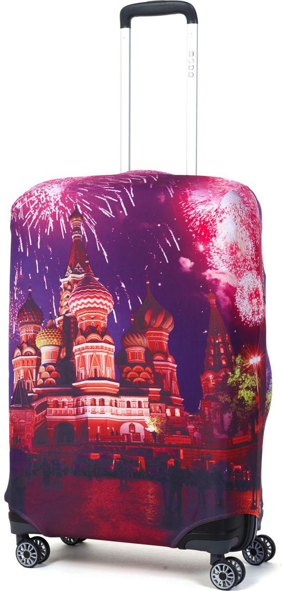 Чехол для чемодана Mettle Moscow, размер M (высота чемодана: 65-75 см)LK-21000081Модный универсальный чехол METTLE подходит для средних чемоданов размера М (высота: 65-75 см, ширина: 40-46 см, глубина: 25-32 см). Он выполнен из спандекса. Эластичная ткань со специальной UF-водоотталкивающей пропиткой лучше защитит ваш чемодан от грязи и солнечных лучей. Картинка чехла надолго останется яркой и красочной. Две боковые потайные молнии, усиленные дополнительными швами, предохраняют боковые стороны и ручки чемодана от царапин и легких повреждений. Резинка с удобной соединяющей застёжкой надёжно фиксирует чехол на чемодане. Нижняя молния имеет автоматический замок бегунка. В швы багажного чехла дополнительно вшит эластичный жгут для лучшей усадки и фиксации на чемодан. Вся фурнитура изготовлена в фирменном дизайне METTLE.Чехол упакован в функциональный мешочек из аналогичной ткани, который вы сможете использовать для хранения и переноски предметов небольшого размера.