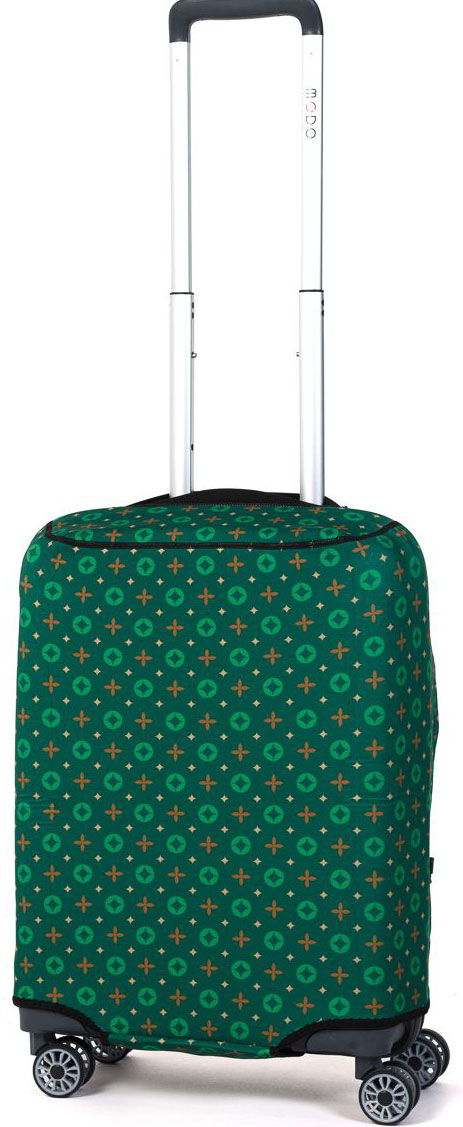Чехол для чемодана Mettle Verdant, цвет: зеленый. Размер S (высота чемодана: до 60 см)