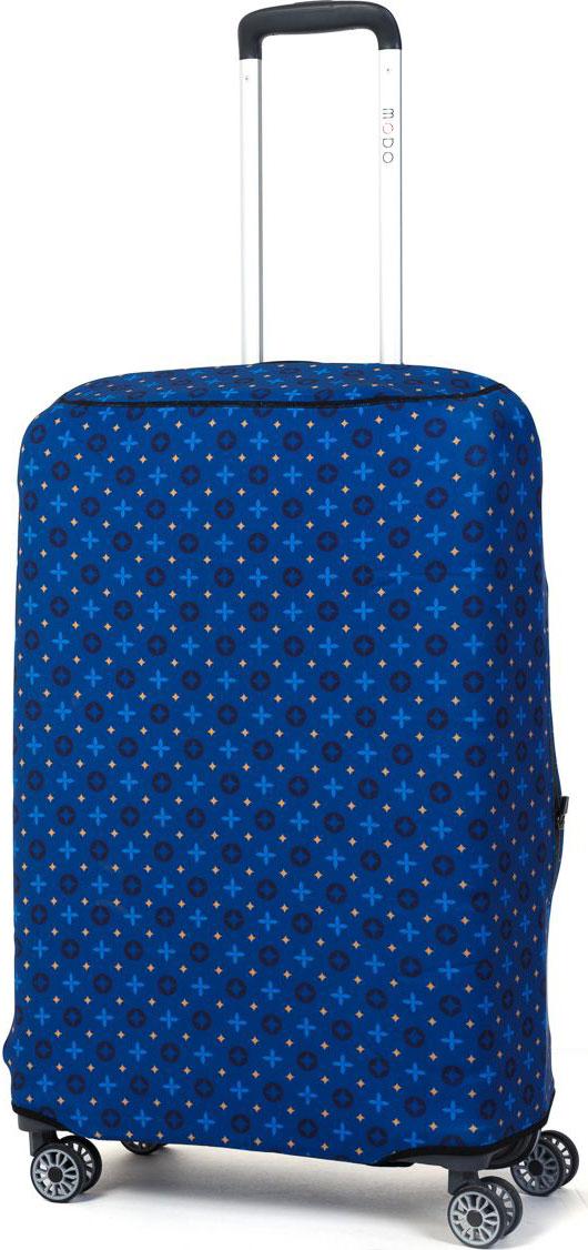 Чехол для чемодана Mettle Blue, цвет: синий. Размер M (высота чемодана: 70-75 см)