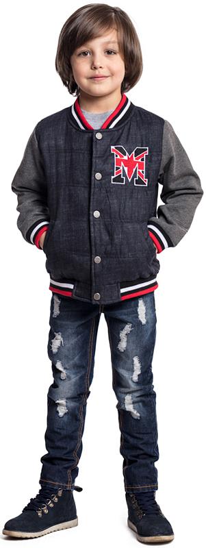 Куртка для мальчика PlayToday, цвет: темно-синий, серый. 371003. Размер 128371003Утепленная стеганая куртка PlayToday застегивается на кнопки. Горловина, низ и манжеты - на мягких трикотажных резинках. Светоотражатели обеспечат видимость ребенка в темное время суток. Куртка дополнена вшивными карманами.