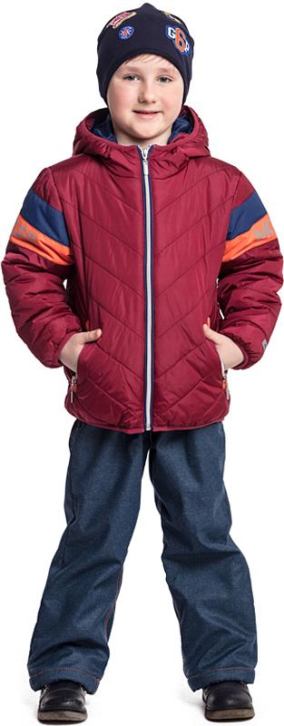 Куртка для мальчика PlayToday, цвет: вишневый. 371053. Размер 104371053Утепленная куртка PlayToday с капюшоном выполнена из водоотталкивающей ткани. Модель на молнии. Мягкие резинки на рукавах и по низу изделия сохраняют тепло. Светоотражатели на куртке обеспечат видимость ребенка в темное время суток. Куртка дополнена вшивными карманами на молнии.