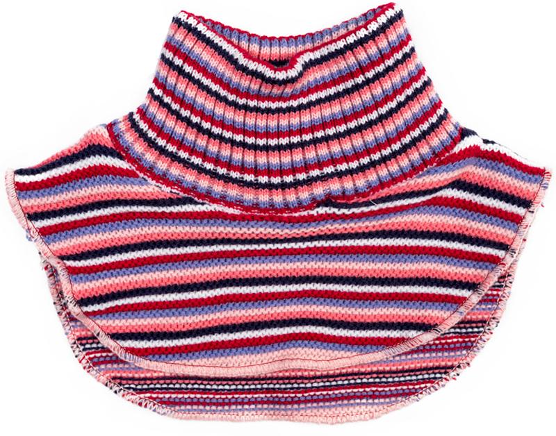 Манишка для девочки PlayToday, цвет: розовый, темно-синий, белый. 372086. Размер 50372086Воротник-манишка PlayToday - отличная альтернатива шарфу. Модель хорошо закрывает горло, спинку и грудь ребенка. Мягкий материал не раздражает нежную детскую кожу. Модель выполнена в технике Yarn Dyed - в процессе производства используются разного цвета нити. При рекомендуемом уходе изделие не линяет и надолго остается в первоначальном виде.