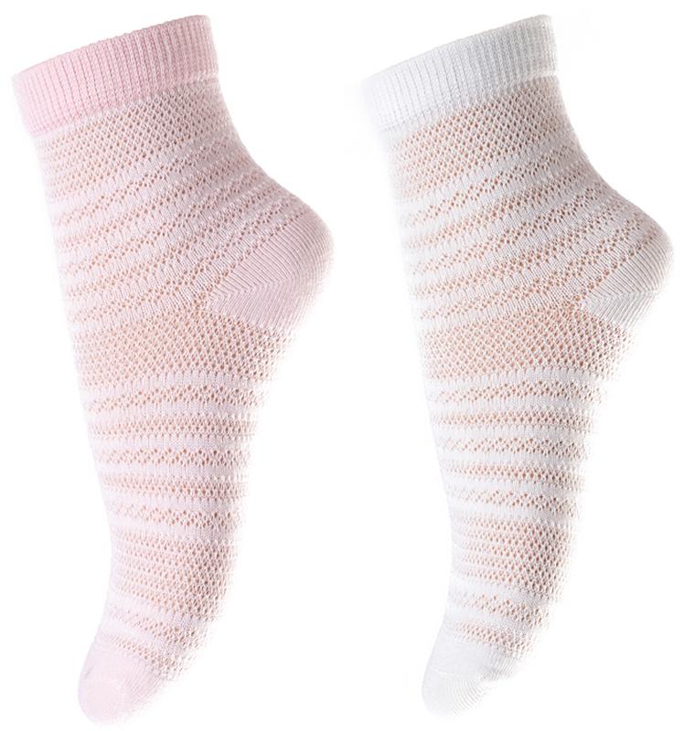 Носки для девочки PlayToday, цвет: белый, светло-розовый, 2 пары. 178044. Размер 11178044Носки PlayToday очень мягкие, выполненные, из натуральных материалов, приятные к телу и не сковывают движений. Хорошо пропускают воздух, тем самым позволяя коже дышать. Даже частые стирки, при условии соблюдений рекомендаций по уходу, не изменят ни форму, ни цвет изделия. Мягкая резинка не сдавливает нежную детскую кожу.В комплекте 2 пары носков.