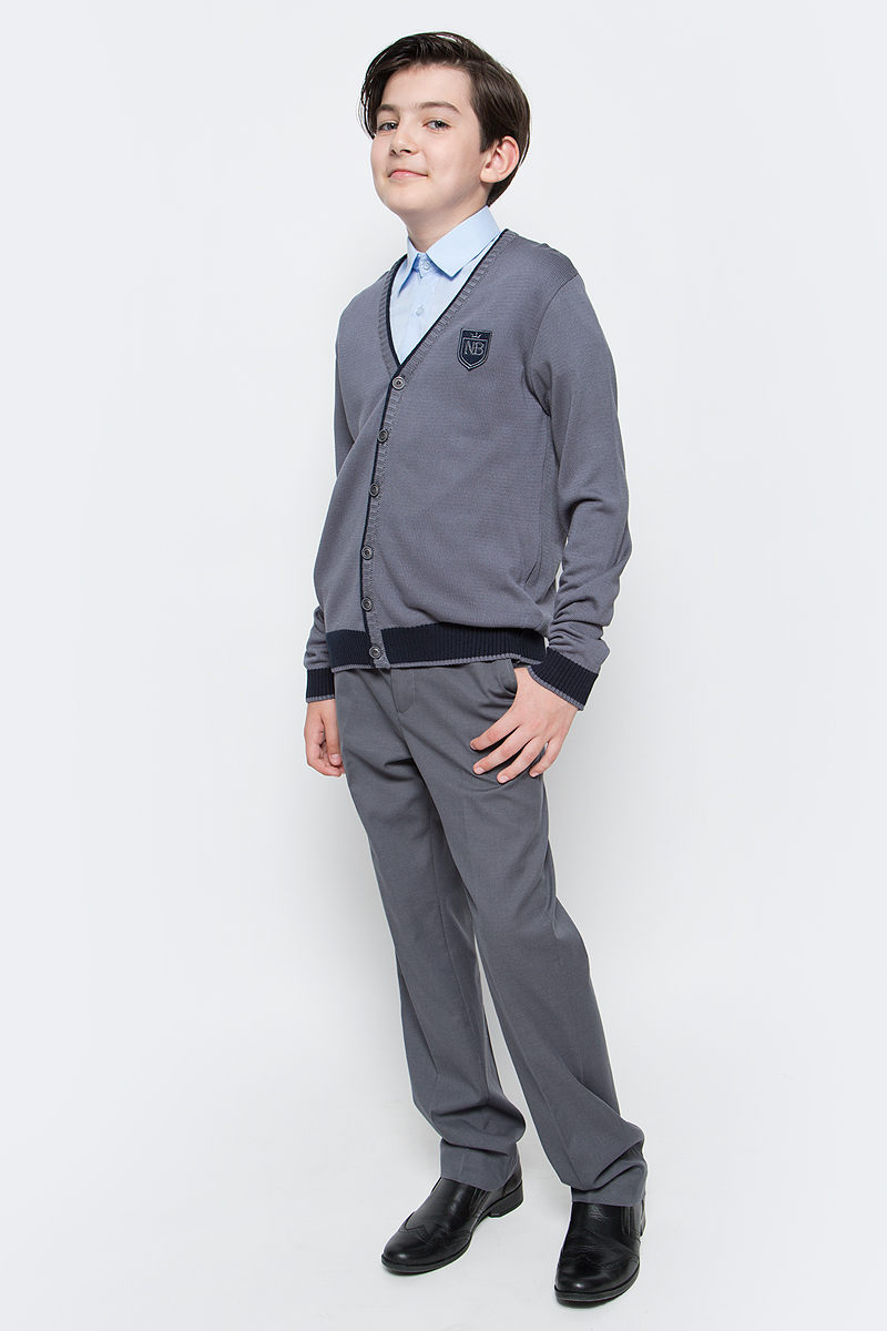 Кардиган для мальчика Nota Bene, цвет: серый. CYC16002B. Рост 152 платье tutto bene tutto bene tu009ewzwn18