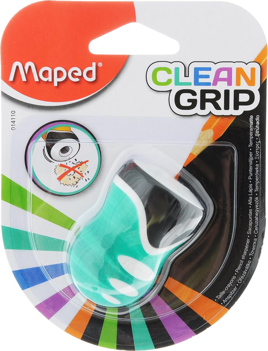 Maped Точилка Clean Grip цвет зеленый14110_зеленыйТочилка Maped Clean Grip имеет одно отверстие. Оснащена автоматическим открытием и закрытием. Нескользящая фактура изготовлена для удобства удержания в руке.