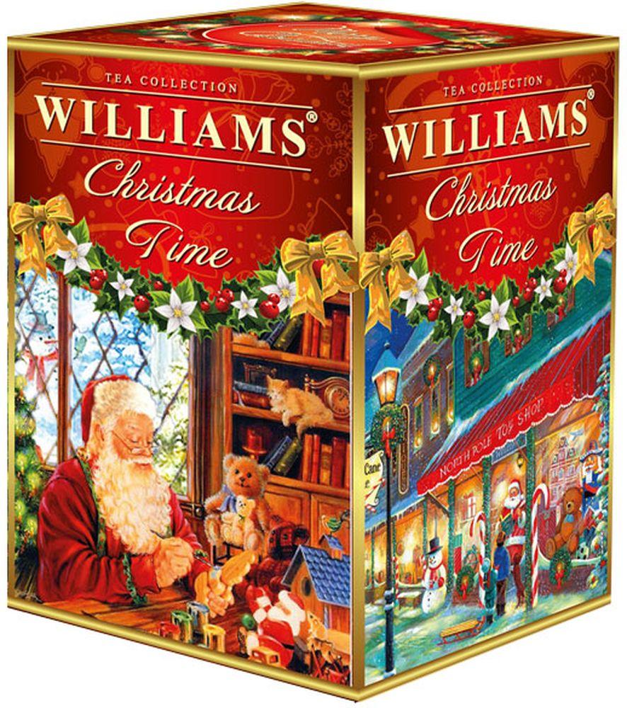 WILLIAMS Christmas time черный крупнолистовой цейлонский чай с подарком , 125 г greenfield christmas mystery черный листовой чай 100 г
