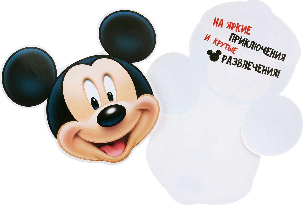 Конверт для денег Disney От Микки, 19,5 х 17,7 см1137064Дарите радость каждый день! Положите в конверт с любимыми героями Disney символическую сумму, и пусть чадо потратит её так, как хочет, а потом расскажет о сделанном выборе.Известные персонажи помогут красиво вручить такой универсальный подарок и осуществить мечту ребёнка.