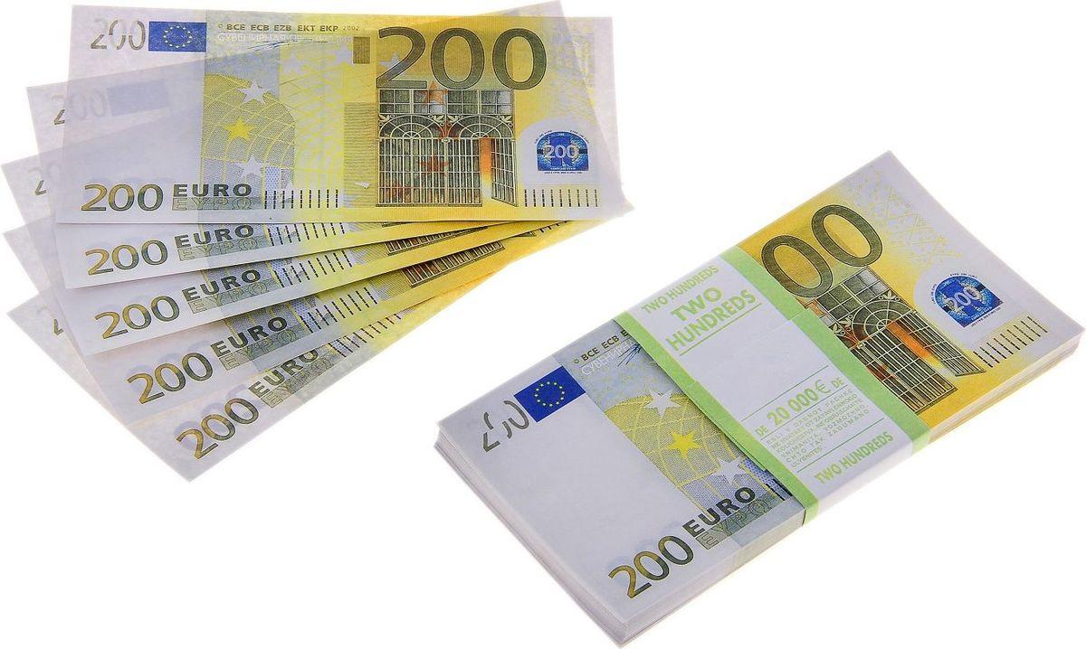 Деньги сувенирные ОКеюшки Пачка купюр 200 евро770166Выкуп невесты - это довольно старая традиция. На современных свадьбах сегодня такой ритуал превратился всего лишь в игру. Раньше при выкупе жениху требовалось тратить много денежных средств. Пачка купюр 200 евро поможет сохранить ваши деньги и весело провести время.