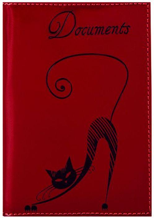 Бумажник водителя женский Fabula Cats, цвет: красный. BV.35.SHНатуральная кожаБумажник водителя из коллекции Fabula Cats выполнен из натуральной кожи. На внутреннем развороте 2 кармана из прозрачного пластика, внутренний блок для документов водителя (6 карманов). Такой бумажник станет отличным подарком для человека, который ценит качественные и практичные вещи.