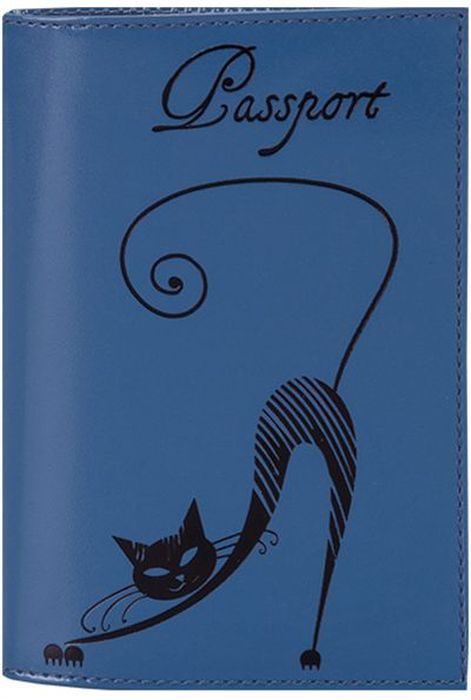 Обложка для паспорта женская Fabula Cats, цвет: васильковый. O.31.SHO.31.SH.васильковыйОбложка для паспорта из коллекции Cats выполнена из натуральной кожи. Внутри 2 кармана из прозрачного пластика. Отличительная черта: изящное тиснение Кошка.
