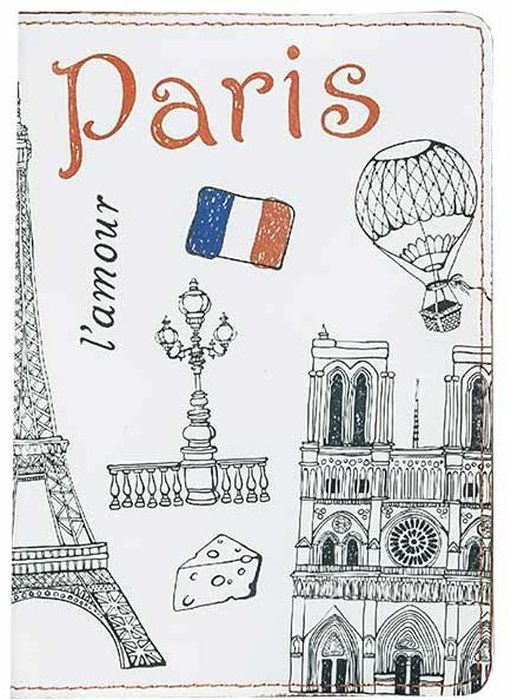 Обложка для паспорта женская Fabula Paris, цвет: белый. O.85.SPНатуральная кожаОбложка для паспорта из коллекции Paris выполнена из натуральной кожи. На внутреннем развороте два кармана из прозрачного пластика с выемкой.Отличительная черта: контрастный принт с символами Парижа и яркий окрашенный срез.