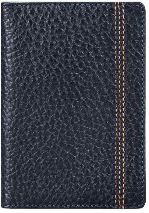 Обложка для паспорта мужская Fabula Brooklyn, цвет: синий. O.88.BRO.88.BR.синийОбложка для паспорта из коллекции Brooklyn выполнена из натуральной кожи. На внутреннем развороте 2 кармана из прозрачного пластика, шелковистая подкладка. Отличительная черта: декоративная строчка.