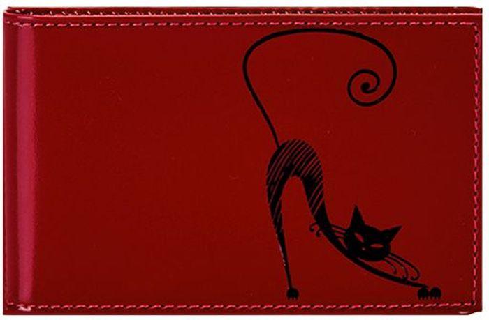 Визитница женская Fabula Cats, цвет: красный. V.37.SH визитница мужская fabula brooklyn цвет чёрный v 82 br