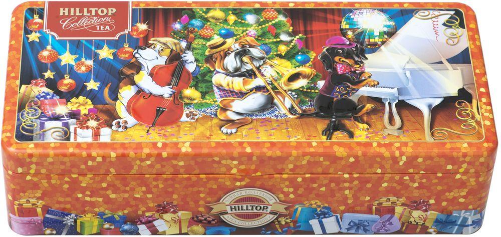 Hilltop Веселая компания новогоднее трио чай черный листовой, 150 г4607099308732_НГ