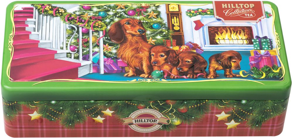 Hilltop Веселая компания дружная семейка чай черный листовой, 150 г дольче вита с рождеством христовым черный листовой чай 170 г
