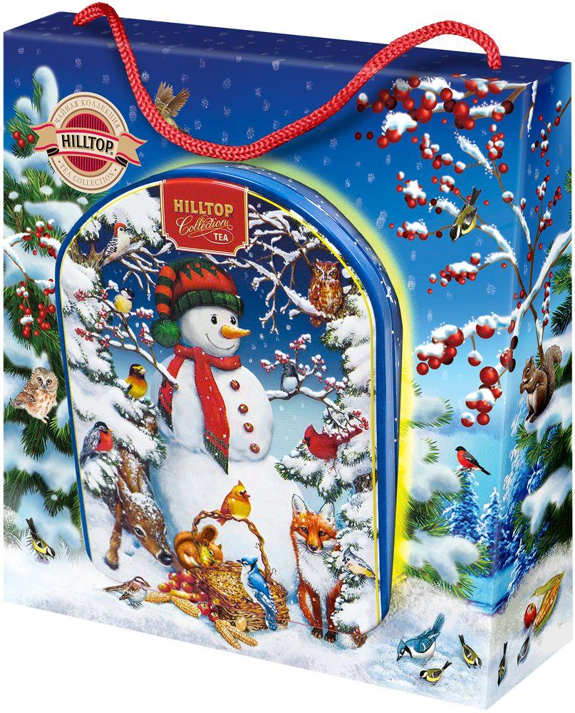 Hilltop Снеговик с друзьями чай черный листовой с чабрецом, 80 г4607099308343_НГ