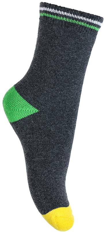 Носки для мальчика PlayToday, цвет: темно-серый. 375006. Размер 14375006Махровые носки PlayToday очень мягкие, выполненные, из натуральных материалов, приятные к телу и не сковывают движений. Хорошо пропускают воздух, тем самым позволяя коже дышать. Даже частые стирки, при условии соблюдений рекомендаций по уходу, не изменят ни форму, ни цвет изделия. Мягкая резинка не сдавливает нежную детскую кожу.