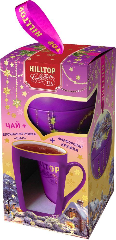 Hilltop Набор Новогодний пейзаж чай черный листовой с кружкой, 80 г чай черный листовой master team рождественское чудо подарочный набор 250 г