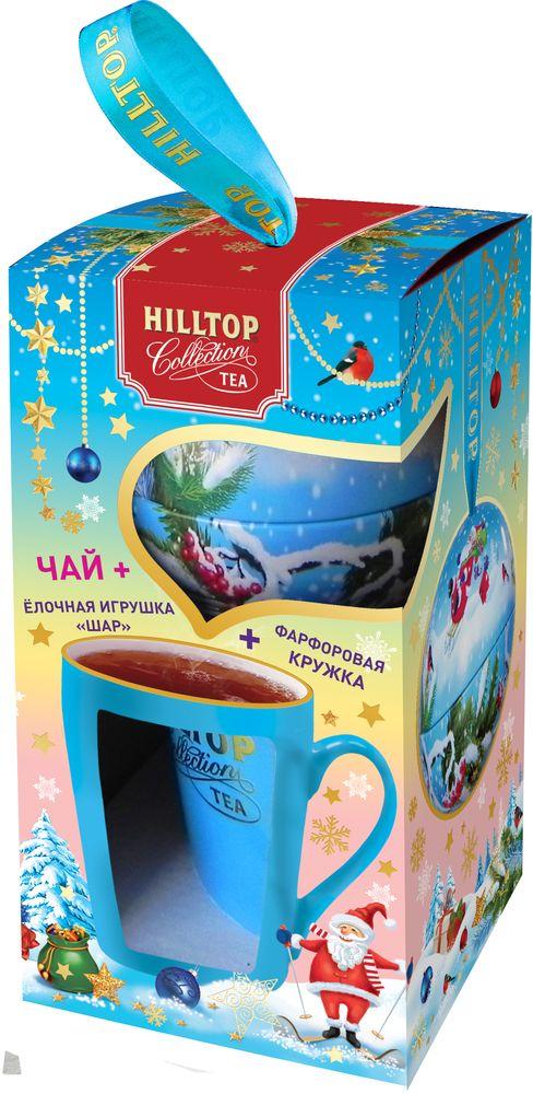 Hilltop Набор Снежные забавы чай черный листовой с кружкой, 80 г4607099308480_НГ