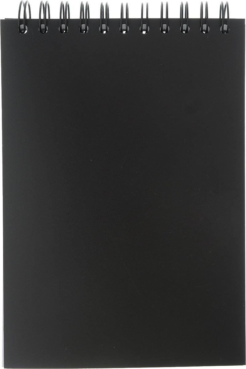 Brauberg Блокнот Title 80 листов в клетку цвет черный125407_черныйБлокнот Brauberg на металлическом гребне в пластиковой обложке, обеспечивающей дополнительную защиту внутреннего блока от деформации.Внутренний блок состоит из высококачественного офсета в клетку.