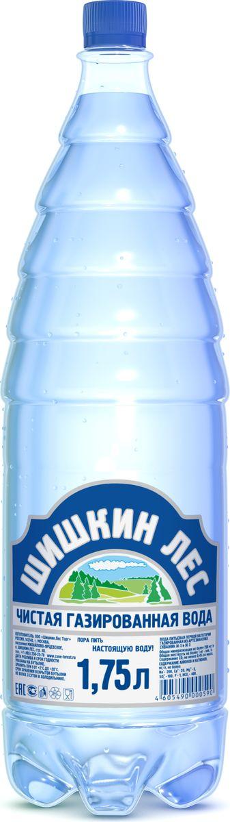 Шишкин лес вода питьевая газированная, 1,75 л4605490000590