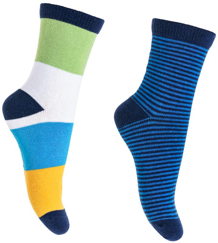 Носки для мальчика PlayToday, цвет: голубой, синий, белый, 2 пары. 371184. Размер 14371184Носки PlayToday очень мягкие, выполненные, из натуральных материалов, приятные к телу и не сковывают движений. Хорошо пропускают воздух, тем самым позволяя коже дышать. Даже частые стирки, при условии соблюдений рекомендаций по уходу, не изменят ни форму, ни цвет изделия. Мягкая резинка не сдавливает нежную детскую кожу.В комплекте 2 пары носков.