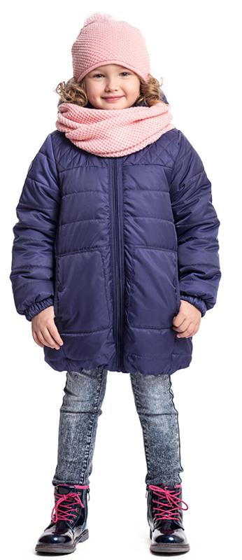 Куртка для девочки PlayToday, цвет: темно-синий. 372051. Размер 122