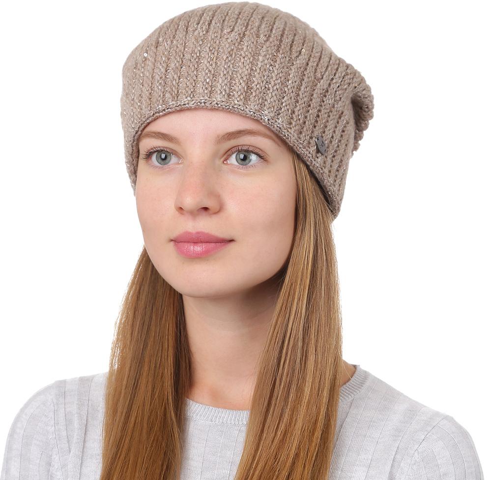 Шапка женская Fabretti, цвет: темно-бежевый. F2017-5-35. Размер универсальныйF2017-5-35Универсальная женская шапка от Fabretti выполнена из высококачественных материалов и дополнена декоративным, металлическим элементом. Простой аккуратный дизайн поможет вам дополнить любой современный образ, а также создать неповторимый модный и элегантный стиль. Такой аксессуар можно сочетать с любым нарядом.