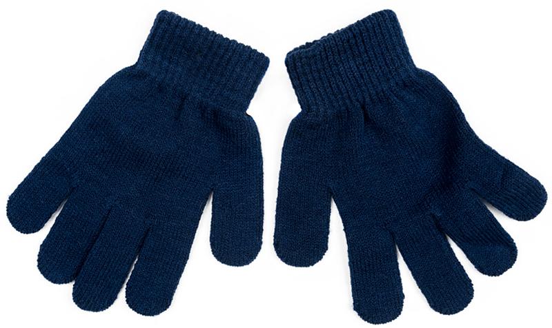 Перчатки для мальчика PlayToday, цвет: темно-синий. 371081. Размер 13371081Вязаные перчатки PlayToday станут идеальным вариантом для прохладной погоды. Они очень мягкие, хорошо тянутся и прекрасно сохраняют тепло. На манжетах - плотная резинка, которая хорошо держит перчатки на руках ребенка.