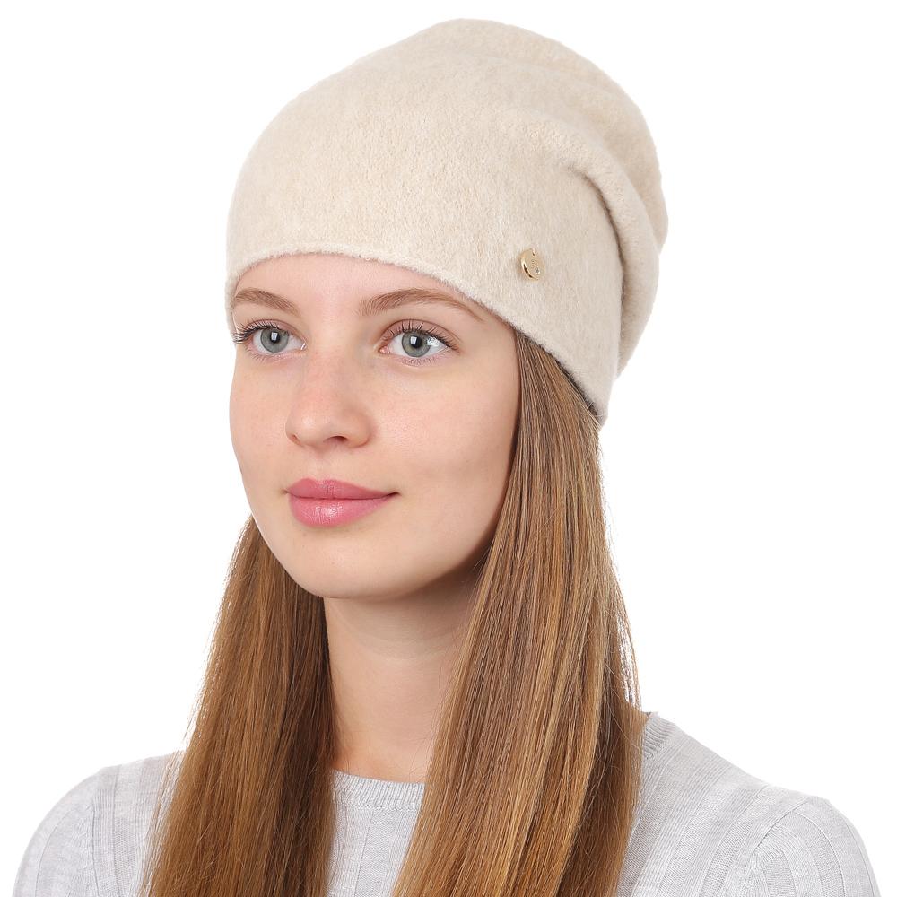 Шапка женская Fabretti, цвет: бежевый. F2017-12-61. Размер универсальныйF2017-12-61Универсальная женская шапка от итальянского бренда Fabretti выполнена из высококачественной комбинированной пряжи. Простой аккуратный дизайн поможет вам дополнить любой современный образ, а также создать неповторимый модный и элегантный стиль. Такой аксессуар можно сочетать с любым нарядом.