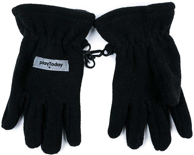Перчатки для мальчика PlayToday, цвет: черный. 371129. Размер 15371129Перчатки PlayToday из теплого флиса - отличное решение для прогулок в холодную погоды. Запястья модели с резинкой для дополнительного сохранения тепла. Перчатки дополнены специальными крючками, при необходимости их можно скрепить между собой или пристегнуть к куртке.