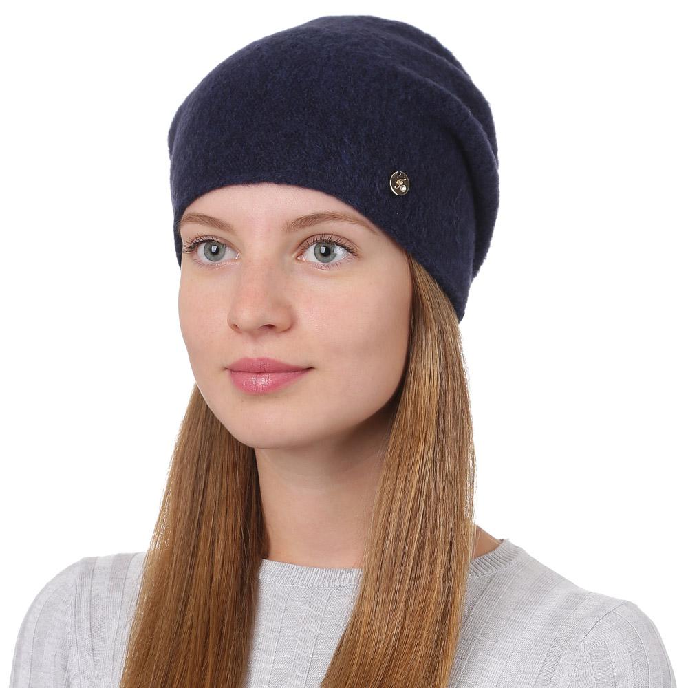 Шапка женская Fabretti, цвет: темно-синий. F2017-12-98. Размер универсальныйF2017-12-98Универсальная женская шапка от Fabretti выполнена из высококачественных материалов и дополнена декоративным, металлическим элементом. Простой аккуратный дизайн поможет вам дополнить любой современный образ, а также создать неповторимый модный и элегантный стиль. Такой аксессуар можно сочетать с любым нарядом.