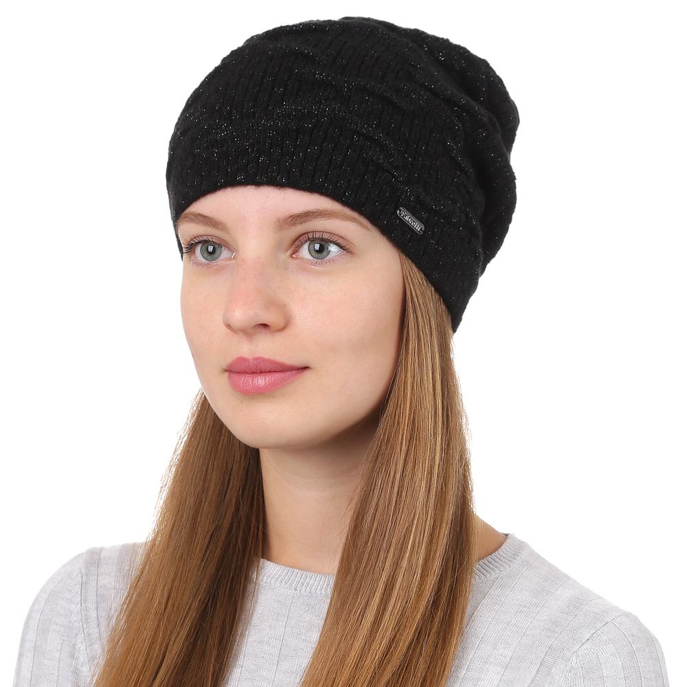 Шапка женская Fabretti, цвет: черный. F2017-17-18. Размер универсальныйF2017-17-18Стильная женская шапка Fabretti отлично дополнит ваш образ и защитит от холода. Смесовая пряжа из мохера и акрила максимально сохраняет тепло и обеспечивает удобную посадку. Классическая вязаная шапка оформлена люрексом. Такая шапка станет отличным дополнением к вашему осеннему или зимнему гардеробу, в ней вам будет уютно и тепло!