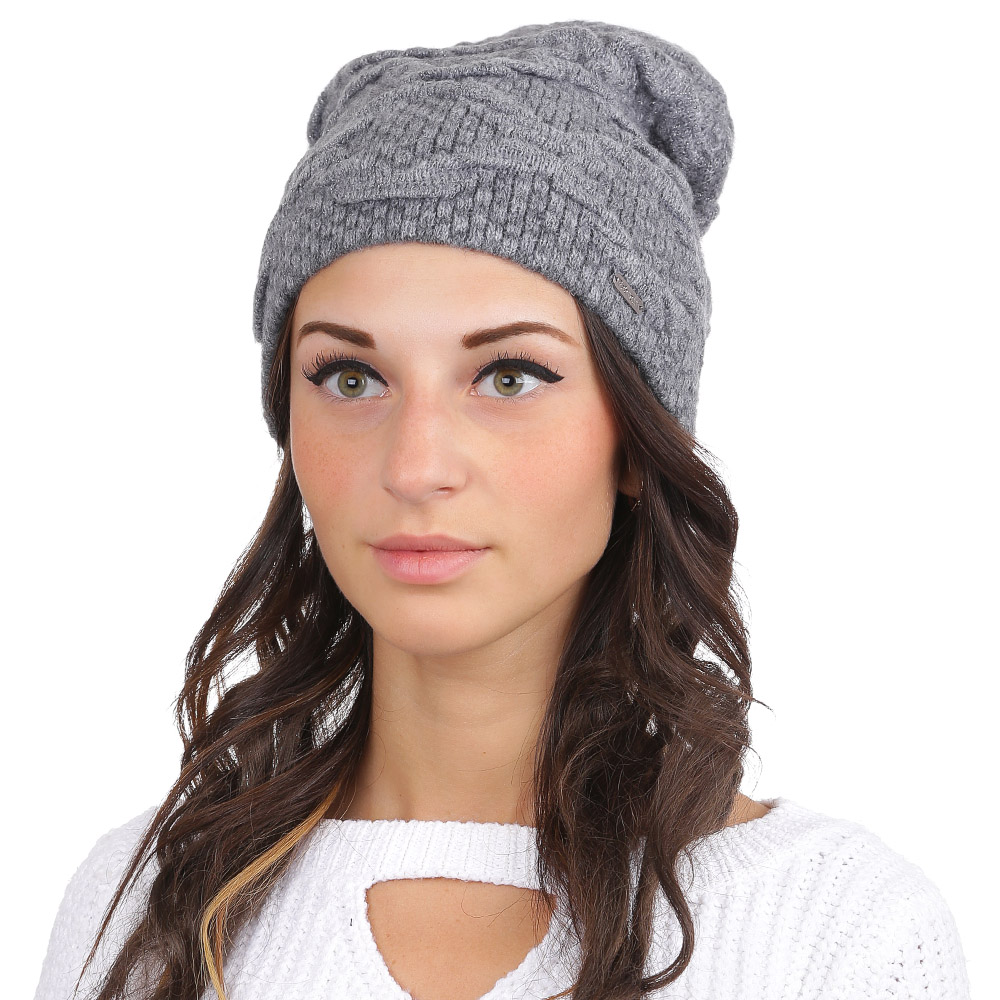 Шапка женская Fabretti, цвет: серый. F2017-17-33. Размер универсальныйF2017-17-33Стильная женская шапка Fabretti отлично дополнит ваш образ и защитит от холода. Смесовая пряжа из мохера и акрила максимально сохраняет тепло и обеспечивает удобную посадку. Классическая вязаная шапка оформлена люрексом. Такая шапка станет отличным дополнением к вашему осеннему или зимнему гардеробу, в ней вам будет уютно и тепло!