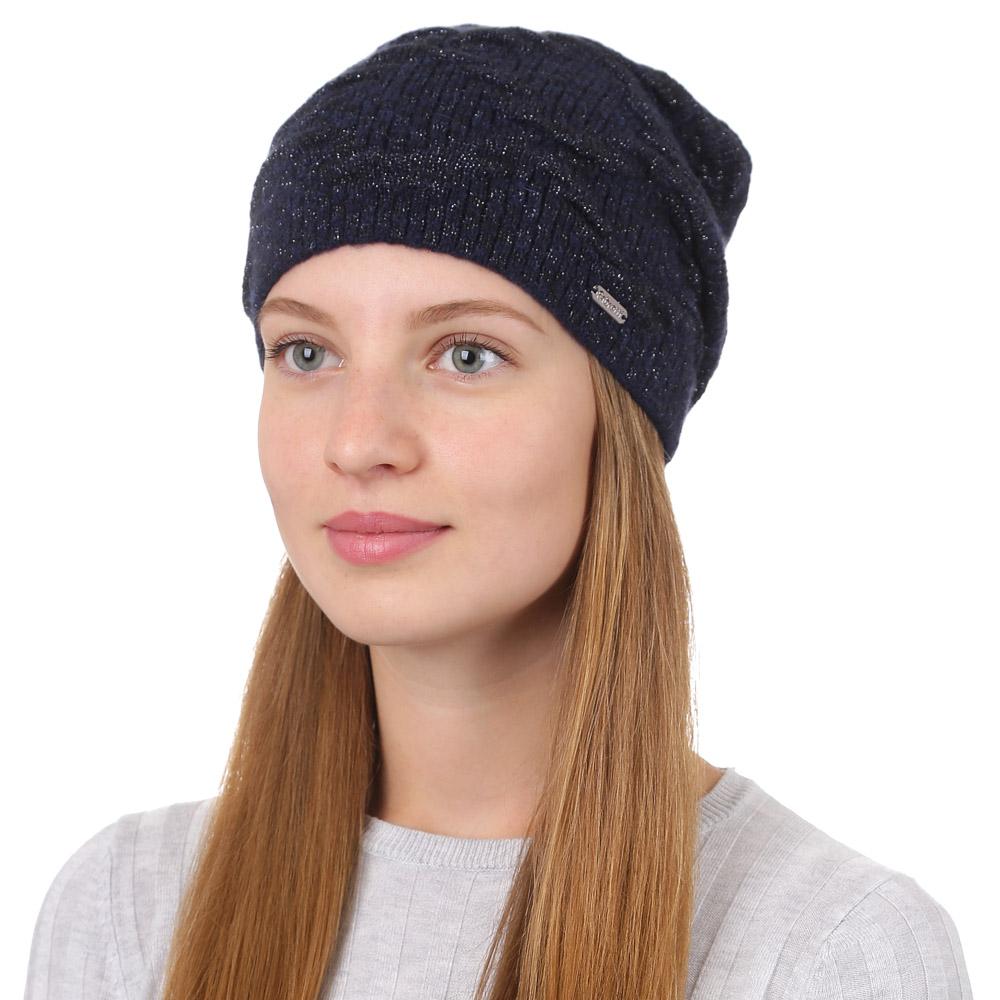 Шапка женская Fabretti, цвет: темно-синий. F2017-17-98. Размер универсальныйF2017-17-98Стильная женская шапка Fabretti отлично дополнит ваш образ и защитит от холода. Смесовая пряжа из мохера и акрила максимально сохраняет тепло и обеспечивает удобную посадку. Классическая вязаная шапка оформлена люрексом. Такая шапка станет отличным дополнением к вашему осеннему или зимнему гардеробу, в ней вам будет уютно и тепло!