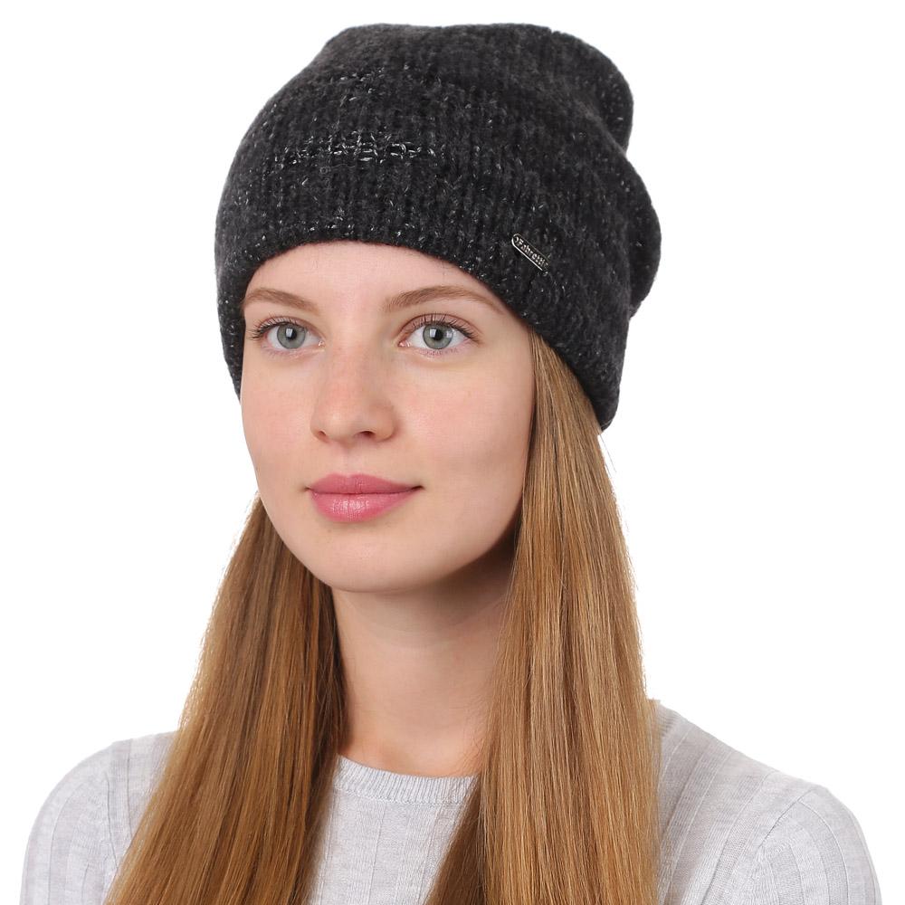 Шапка женская Fabretti, цвет: черный. F2017-20-18. Размер универсальныйF2017-20-18Стильная женская шапка Fabretti отлично дополнит ваш образ и защитит от холода. Смесовая пряжа с шерстью в составе максимально сохраняет тепло и обеспечивает удобную посадку. Такая шапка станет отличным дополнением к вашему осеннему или зимнему гардеробу, в ней вам будет уютно и тепло!