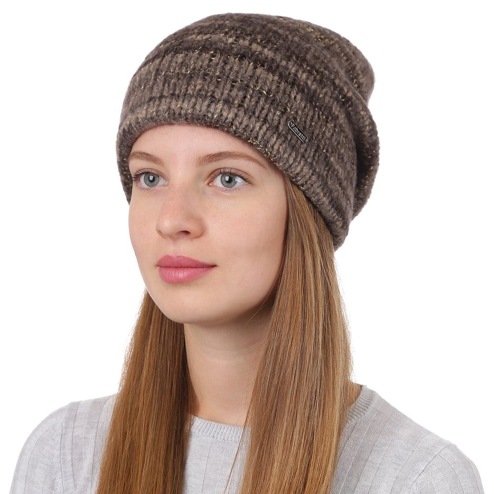 Шапка женская Fabretti, цвет: светло-коричневый. F2017-20-54. Размер универсальныйF2017-20-54Стильная женская шапка Fabretti отлично дополнит ваш образ и защитит от холода. Смесовая пряжа с шерстью в составе максимально сохраняет тепло и обеспечивает удобную посадку. Такая шапка станет отличным дополнением к вашему осеннему или зимнему гардеробу, в ней вам будет уютно и тепло!