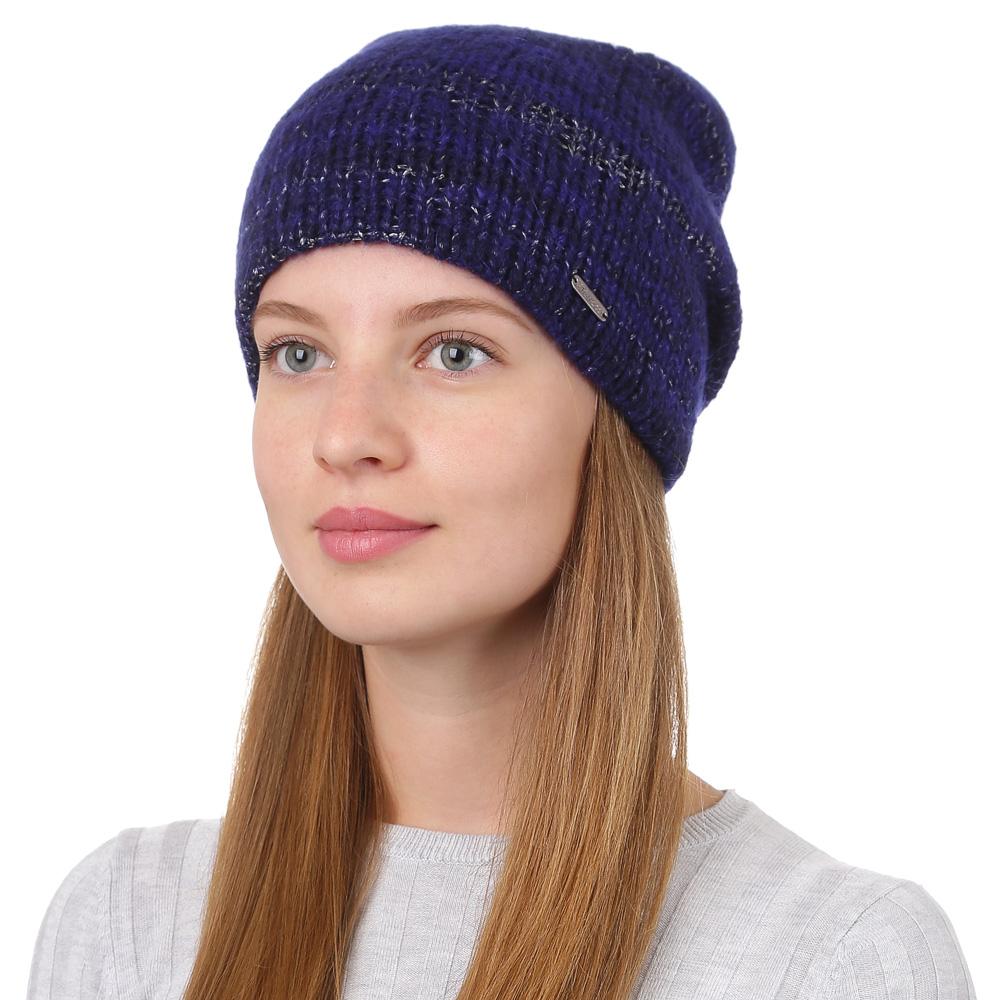 Шапка женская Fabretti, цвет: темно-синий. F2017-20-98. Размер универсальныйF2017-20-98Стильная женская шапка Fabretti отлично дополнит ваш образ и защитит от холода. Смесовая пряжа с шерстью в составе максимально сохраняет тепло и обеспечивает удобную посадку. Такая шапка станет отличным дополнением к вашему осеннему или зимнему гардеробу, в ней вам будет уютно и тепло!