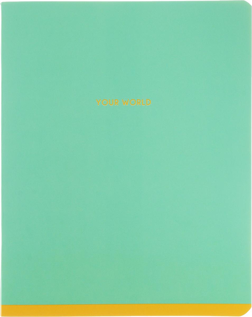 Greenwich Line Тетрадь One Color 48 листов в линейку цвет мятныйN5I48-12901_мятныйТетрадь Greenwich Line One Color подойдет как школьнику, так и студенту. Обложка тетради выполнена из картона с закругленными углами. Листы тетради соединены металлическими скобами. Внутренний блок состоит из 48 листов белой бумаги. Стандартная линовка в голубую линейку дополнена полями.